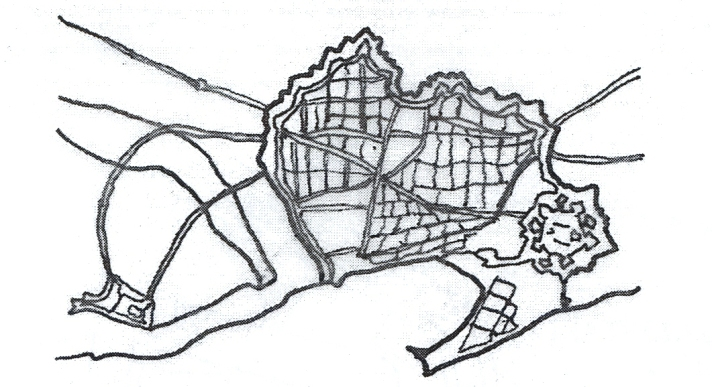 Casco Antiguo dibujo