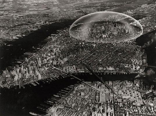 Cupula sobre Manhattan Buckminster Fuller
