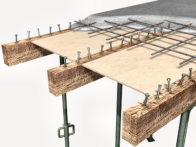 Conectores hormigón madera
